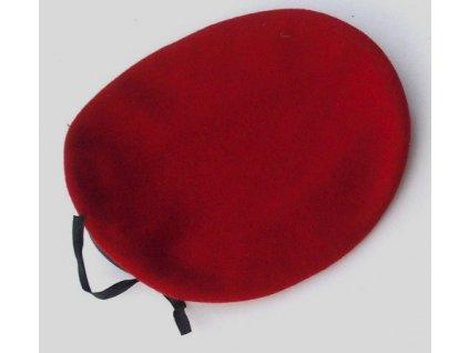 Baret červený, BundesWehr, originál Německo, použitý