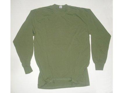 Nátělník zelený, originál AČR, dlouhý rukáv, nepoužitý