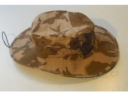 Klobouk GB Combat Hat, maskování DPM desert, originál britská armáda