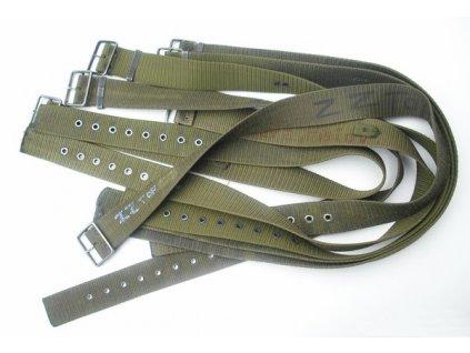 Opasek 95 popruhový s pružinkou, army AČR, zelený, POUŽITÝ
