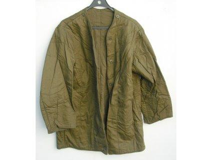 Vložka do kabátu vzor 60 oteplovací, originál ČSLA, PRANÁ, POUŽITÁ