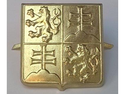 Odznak na čepici Československý voják VZS, státní znak ČSFR, dlouhodobě skladovaný
