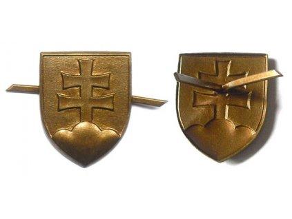 Odznak na čepici ASR, státní znak Slovenska