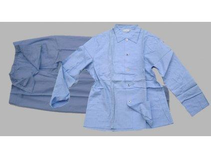 Pyžamo nemocniční, modré, originál ČSLA, dlouhodobě skladované