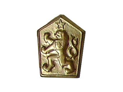 Odznak na čepici ČSLA, státní znak ČSSR, MATNÝ