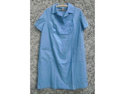 Šaty pro zdravotní sestry, modré, originál, nepoužité, dlouhodobě skladované