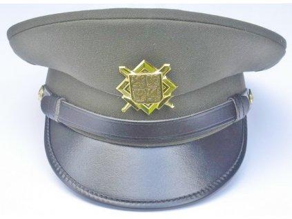 Čepice vzor 97 služební zelená, brigadýrka, originál AČR, nová