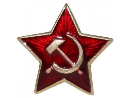 Odznak na čepici SRP A KLADIVO, malý 22 mm, originál Rudá armáda