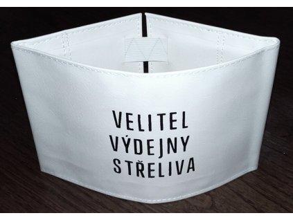 Rukávová páska VELITEL VÝDEJNY STŘELIVA, originál ČSLA, nová