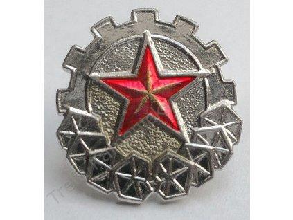 Odznak vševojskový, originál Československo, stříbrný/zlatý