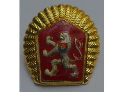 Odznak červený lev REPREZENTATIVNÍ na čepici ČSLA, státní znak ČSSR, originál ČSLA