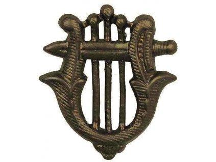 Odznak rozlišovací, vojenská hudba, originál ČSLA, dlouhodobě skladovaný