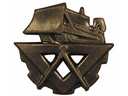 Odznak rozlišovací, stavaři, originál ČSLA, dlouhodobě skladovaný