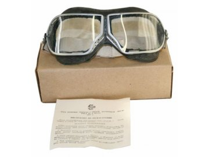 Pilotní brýle SSSR, originál Rudé armády, dlouhodobě skladované