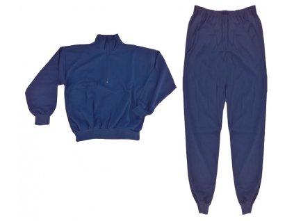 Teplákovka, komplet kalhoty a blůza s krátkým zipem, originál AČR, nová