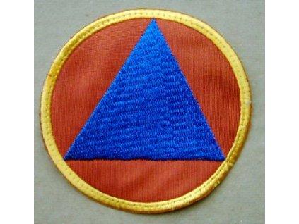 Nášivka civilní ochrana trojúhelník, originál CO Česká republika