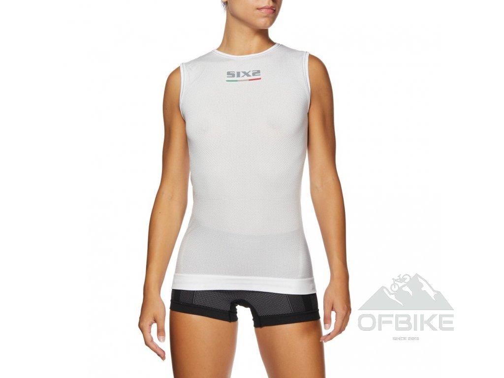 SIXS SMX funkční tričko bez rukávů bílá