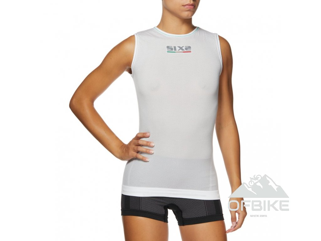 SIXS SML2 funkční odlehčené tričko bez rukávů bílá