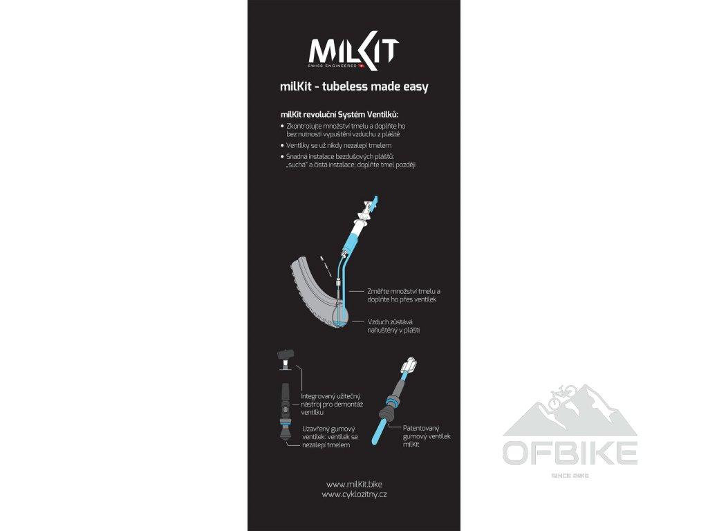 milKit bezdušové ventilky 75 mm