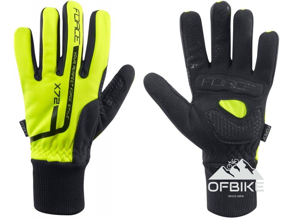 Zimní rukavice FORCE X72, fluo  Zimní rukavice FORCE X72, fluo
