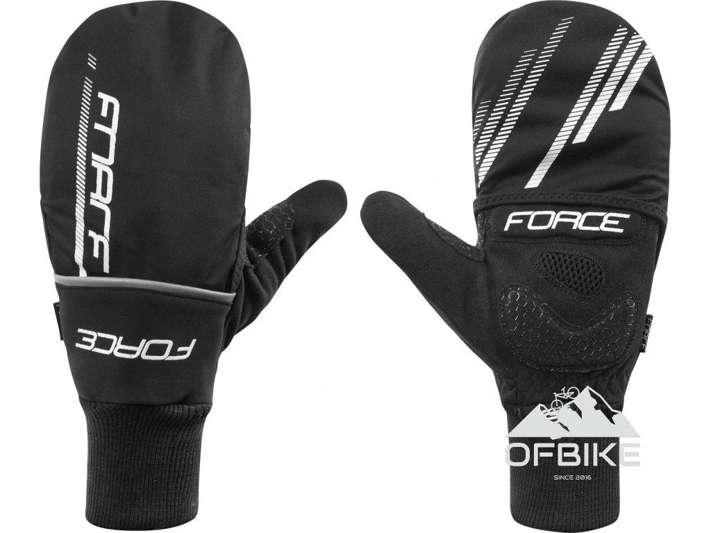 rukavice zimní FORCE COVER, černé