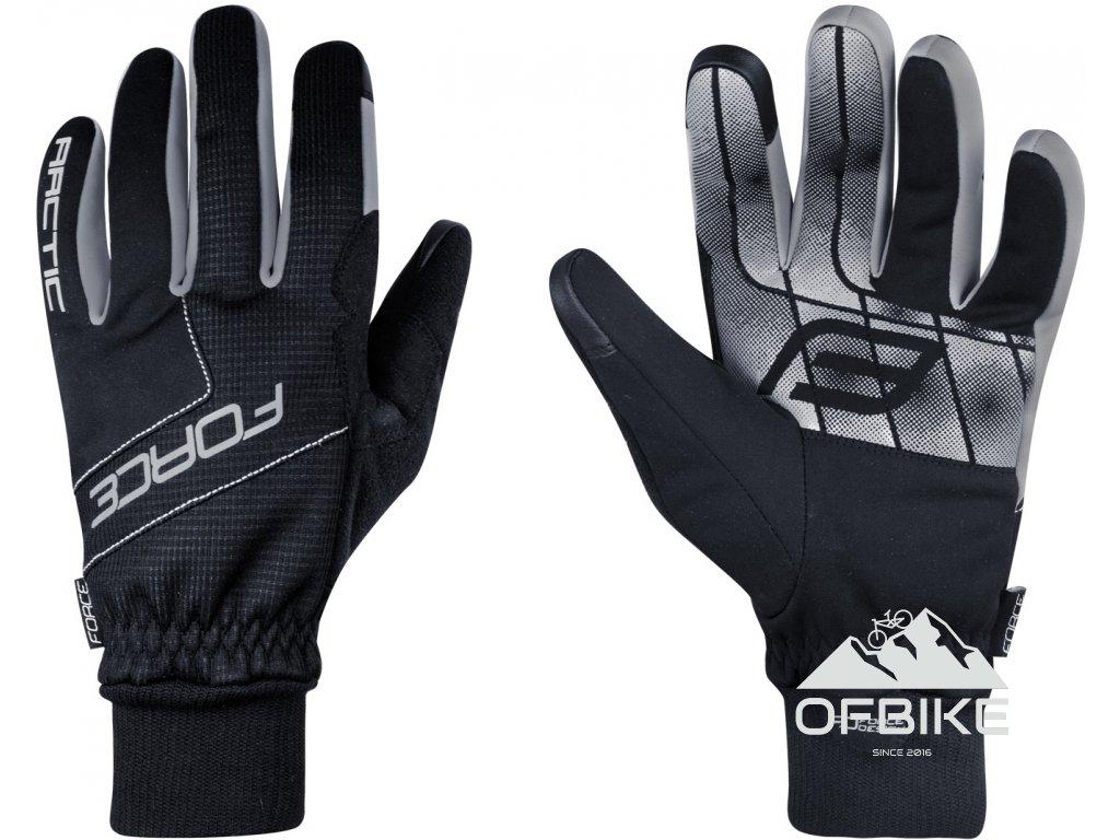 rukavice zimní FORCE ARTIC, černé