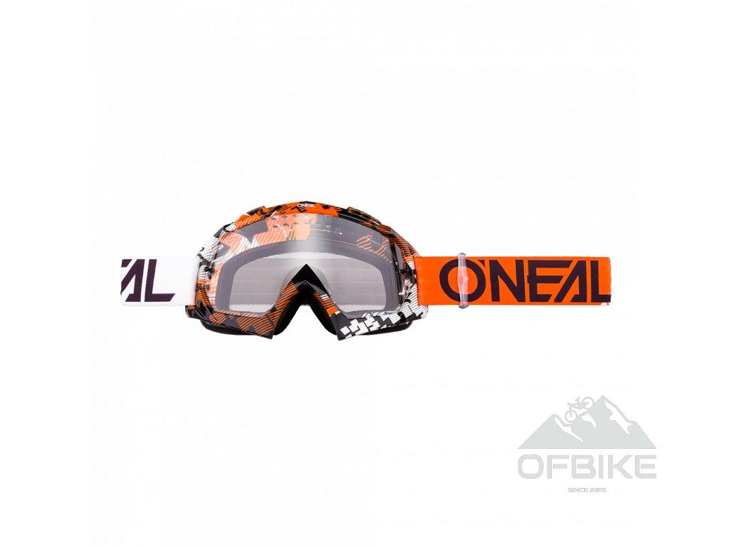 Brýle O´Neal B-10 PIXEL oranžová/bílá