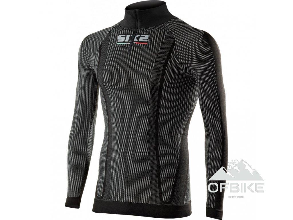 SIXS TS13 funkční tričko s dl. rukávem, rolákem a zipem