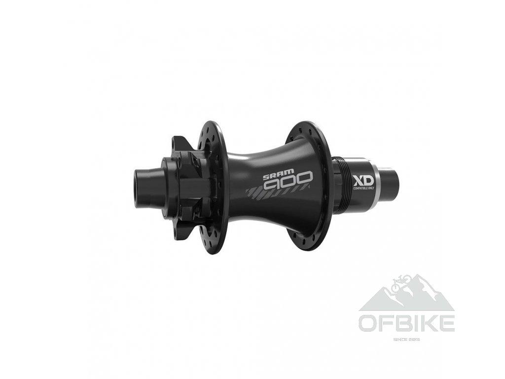 MTB náboj SRAM 900 zadní, 32děr, 6 šroubů, diskový, Black, XD-R(27.8mm) ořech (11rychl.)