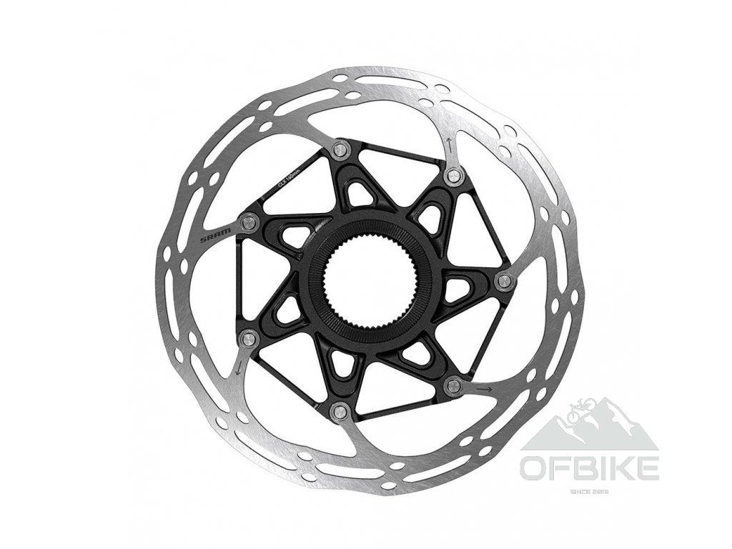 Kotouč SRAM Centerline 2 Piece CenterLock 180mm Black Rounded