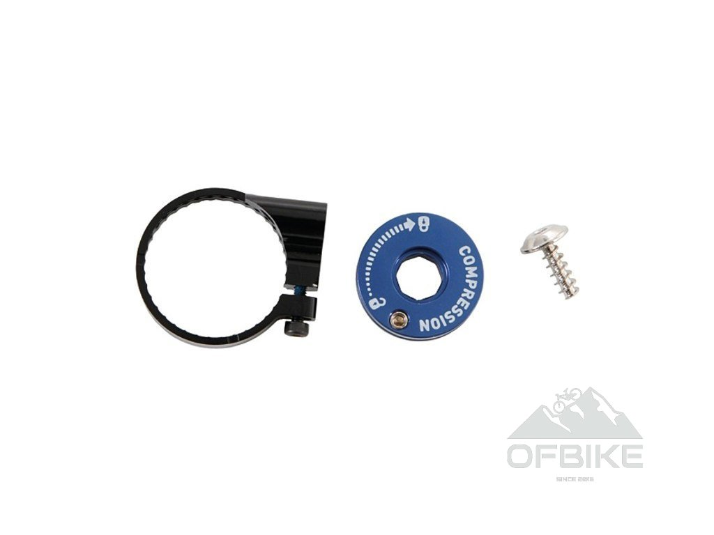 Fork COMPRESSION DAMPER KNOB KIT - REMOTE 10/17mm TK/MOCO (INCLUDES SPOOL, CABLE STOP, SCR