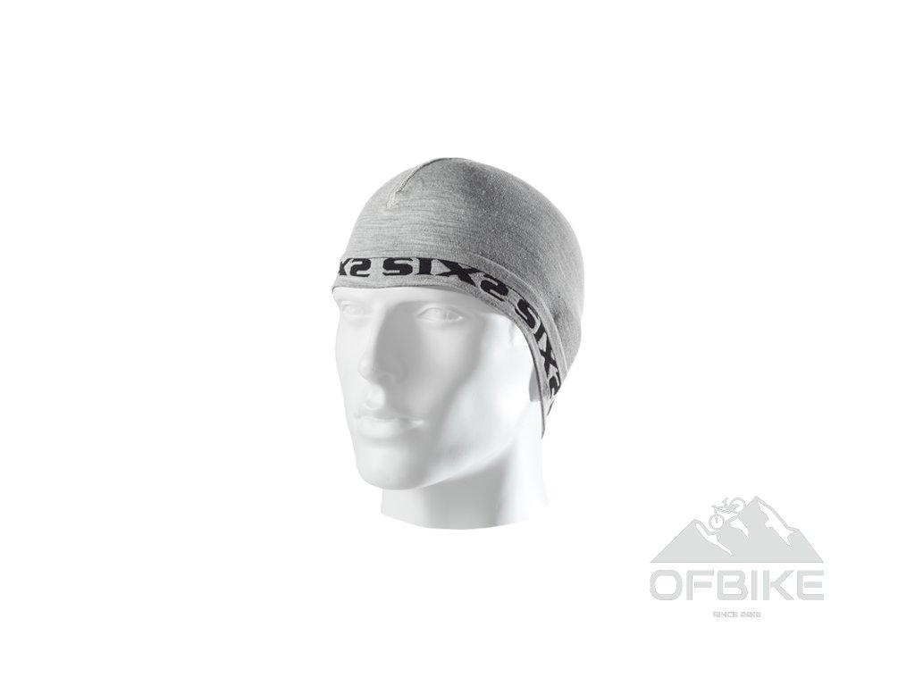SIXS SCX Merinos čepice pod přilbu šedá