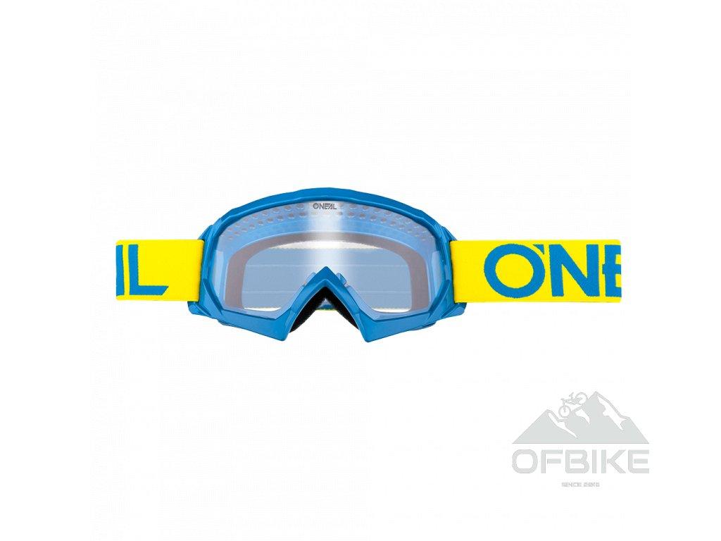 Dětské brýle O´Neal B-10 SOLID žlutá/modrá