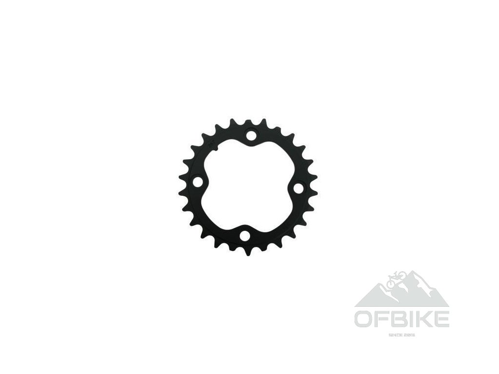 Chain Ring MTB 48T B V2 104 Alum 4mm Blast Black (48-36-26)