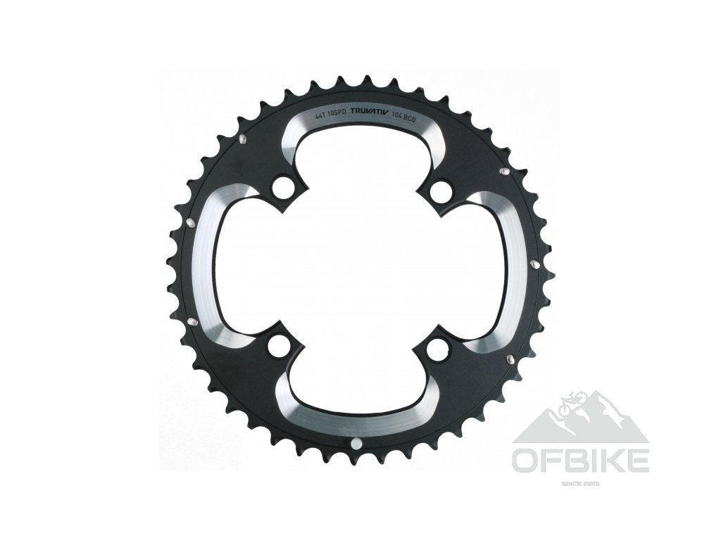 Chain Ring MTB 44T S1 104 AL5 Blast Black L-Pin GXP CNC 3x10