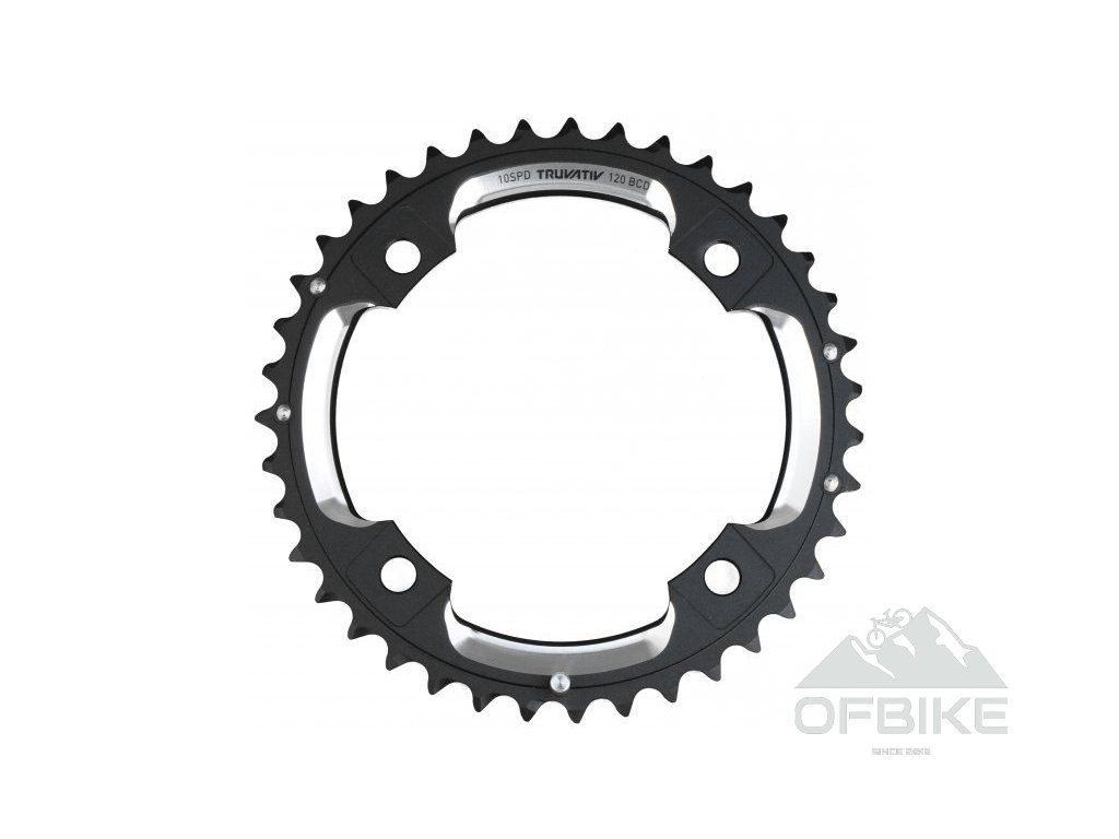 Chain Ring MTB 42T S2 120 AL6 Blast Black S-Pin BB30 CNC 2x10