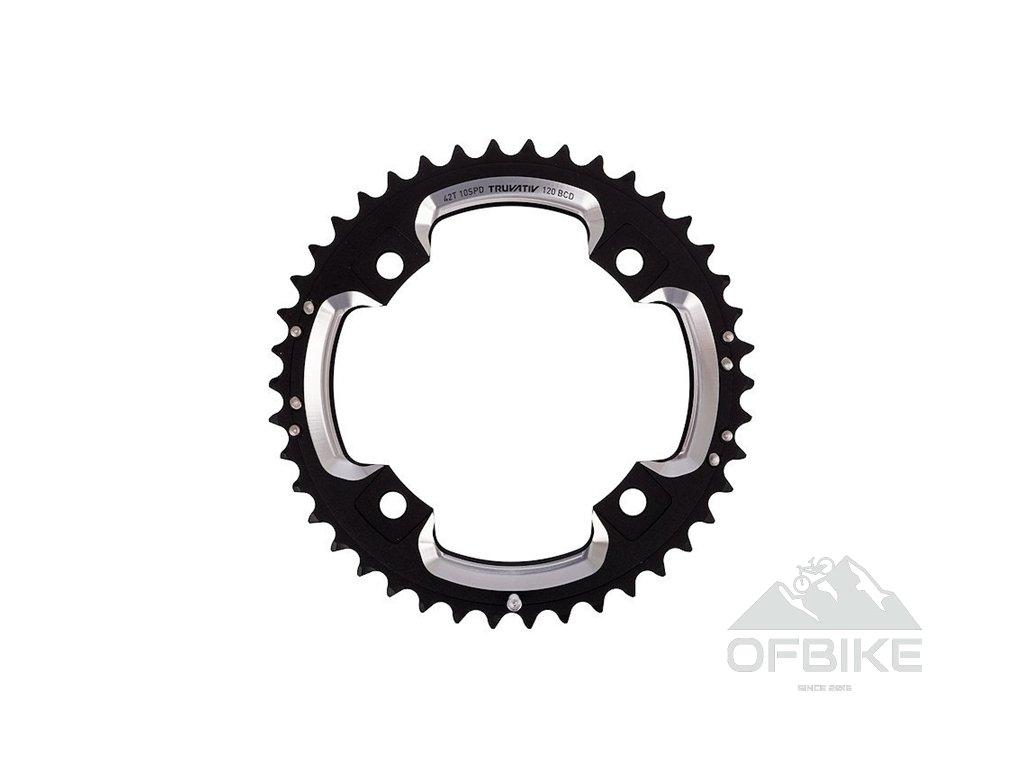 Chain Ring MTB 39T S2 120 AL6 Blast Black S-Pin BB30 CNC 2x10