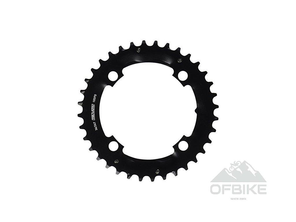 Chain Ring MTB 36T S1 104 AL3 Blast Black 2x10 (Specialized36/24)
