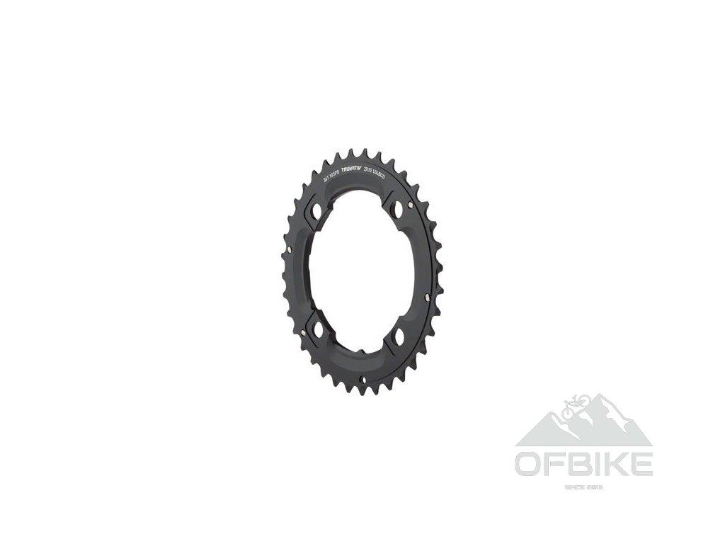 Chain Ring MTB 36T S1 104bcd 49 chainline AL5 Blast Black 2x10 No Pin (36/22)