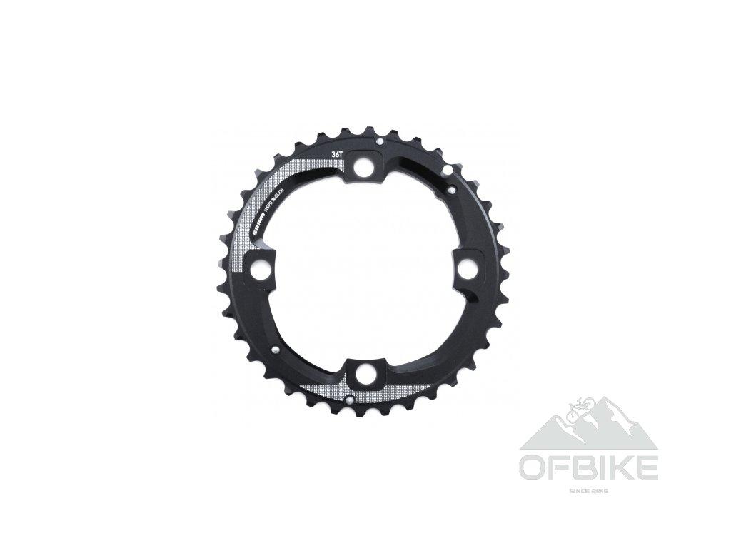 Chain Ring MTB 36T 104 AL5 Blast Black 2x11 Long Pin