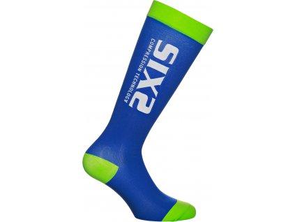 SIXS RS kompresní podkolenky modrá/zelená