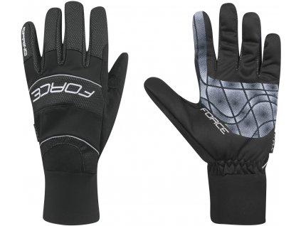 rukavice FORCE WINDSTER SPRING, černé