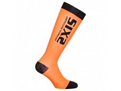 SIXS kompresní podkolenky černá/oranžová,