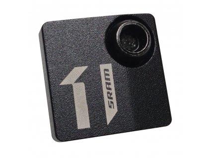 1X krytka přesmykače, hliníková, černá