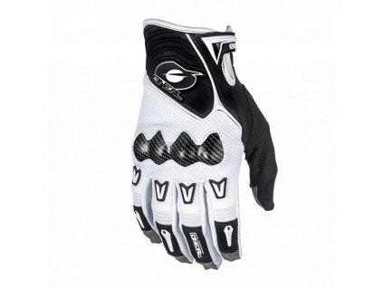 Butch Carbon rukavice bílá