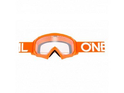 B-10 dětské brýle Solid oranžová/bílá