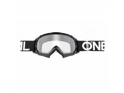B-10 dětské brýle Solid černá/bílá