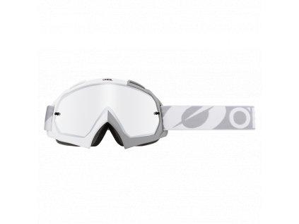 Brýle O´Neal B-10 TWOFACE bílá/šedá mirror silver
