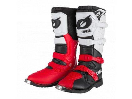 Boty O´Neal RIDER PRO černá/bílá/červená
