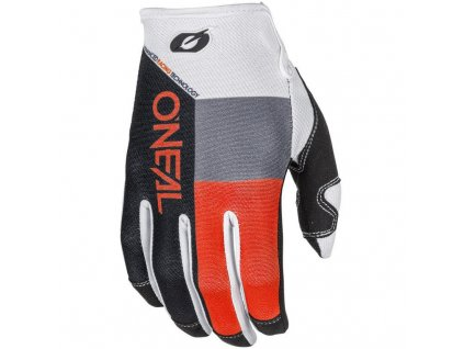 rukavice o neal mayhem gloves split black orange white